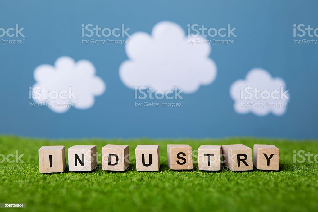 industry text stock photo