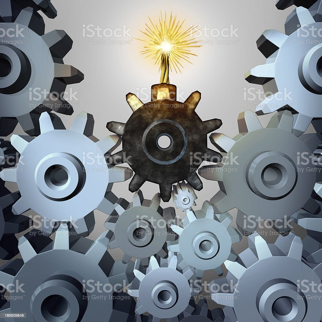 Industry Time Bomb stock photo