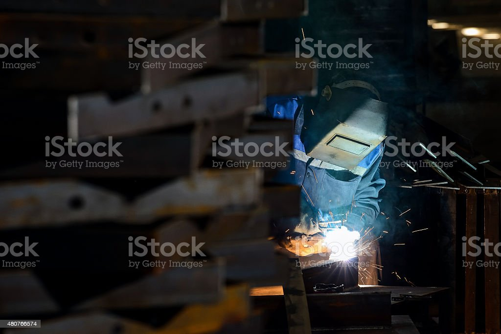 Industry worker stock photo