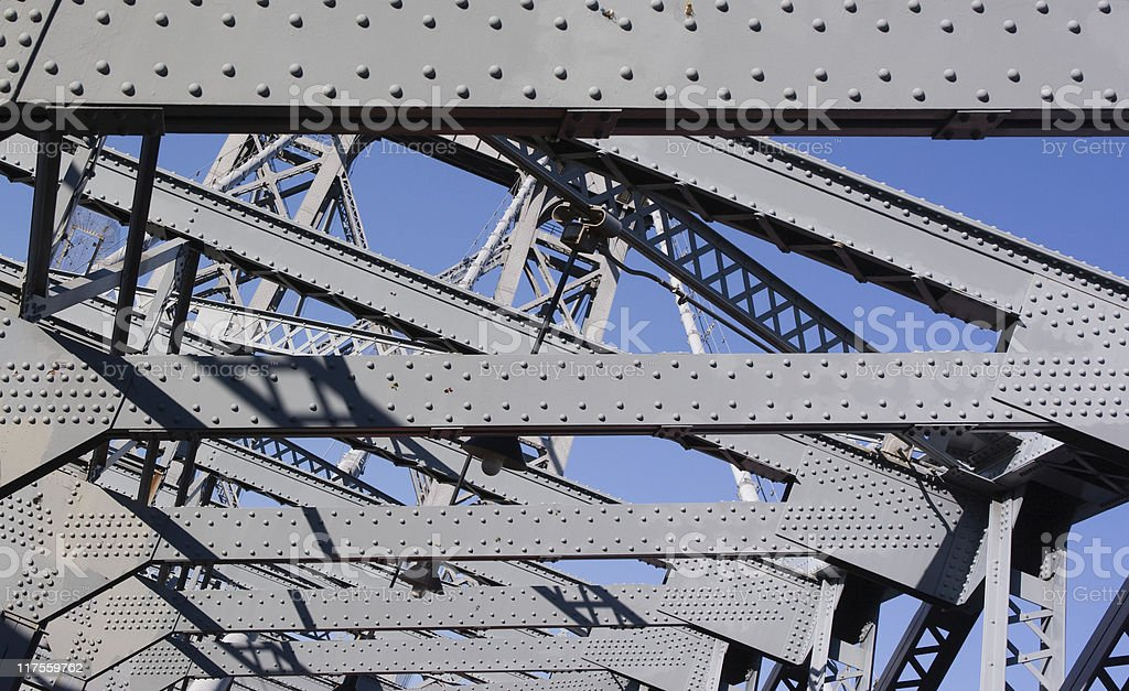 Industryal structure: Williamsburg Bridge between Manhattan and Brooklyn royalty-free stock photo