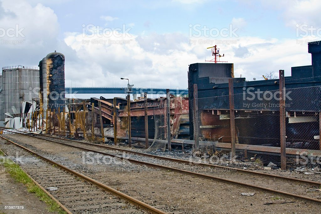 Industry-terrains at the Nord-Ostsee-Kanal stock photo