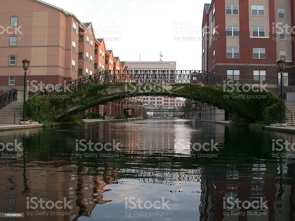 Indy Canal stock photo