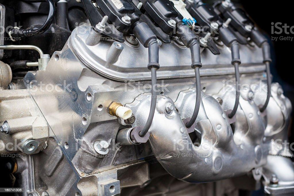 Indy Car Engine stock photo
