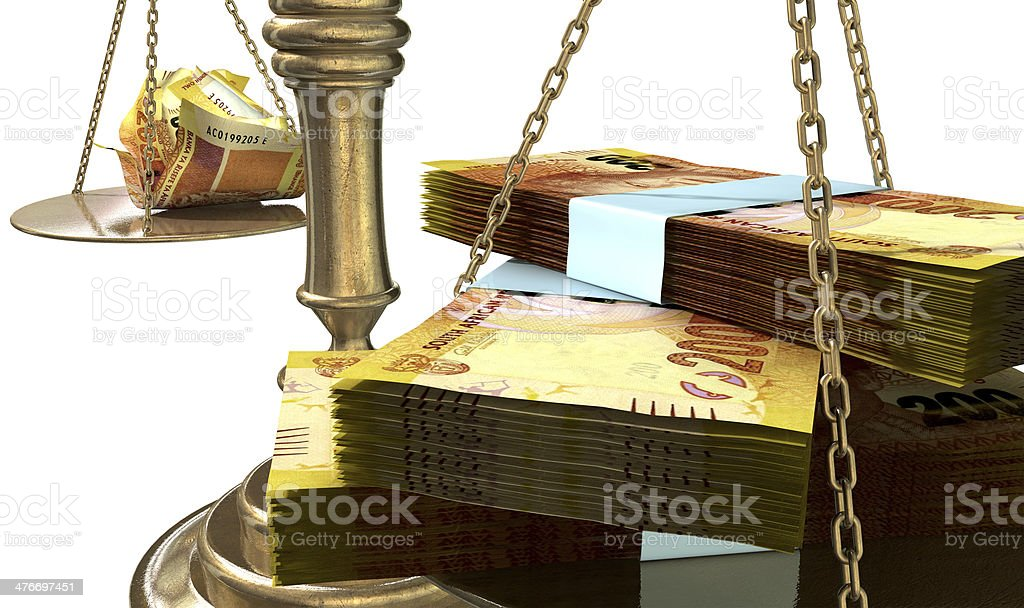 Inequality Scales Of Justice Income Gap South Africa stock photo