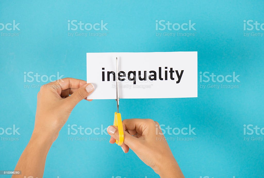 Inequality To Equality stock photo