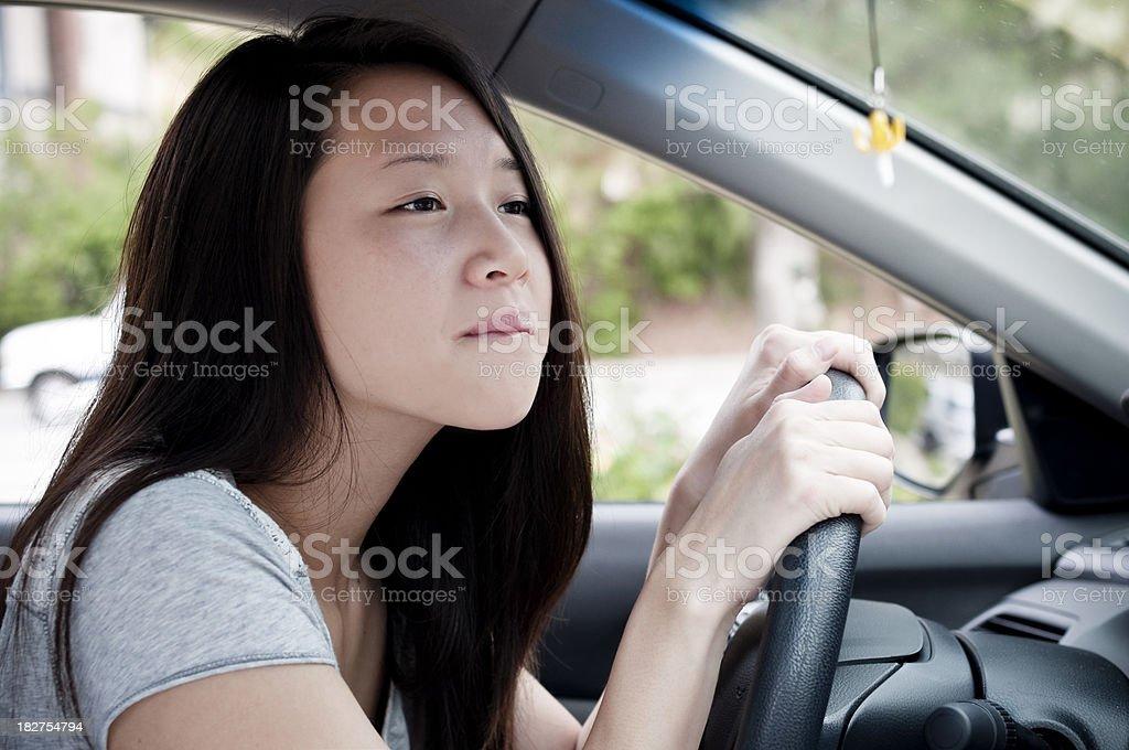 Inexperienced driver stock photo