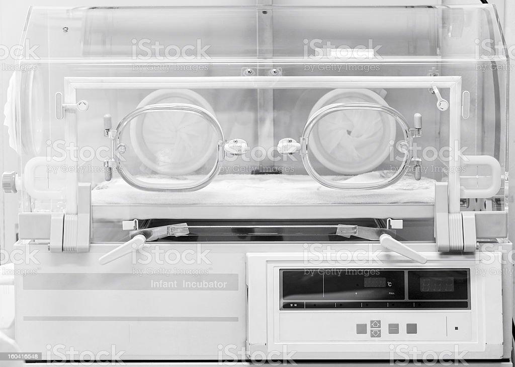 Infant incubator stock photo