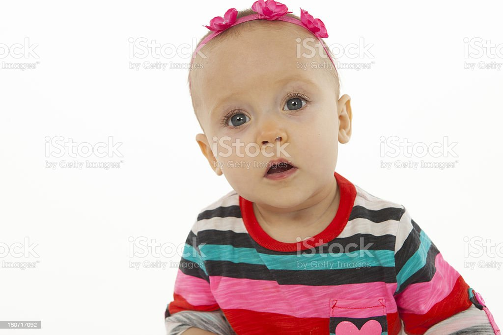 Infant on a White Background. royalty-free stock photo