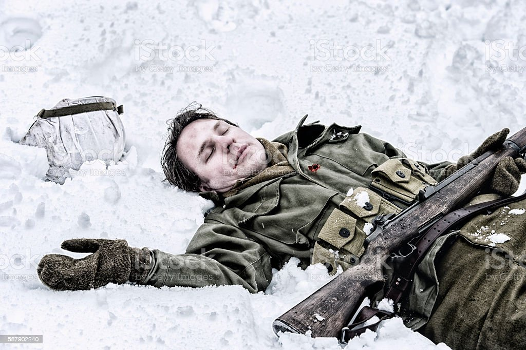 WWII US Infantry Fatality stock photo