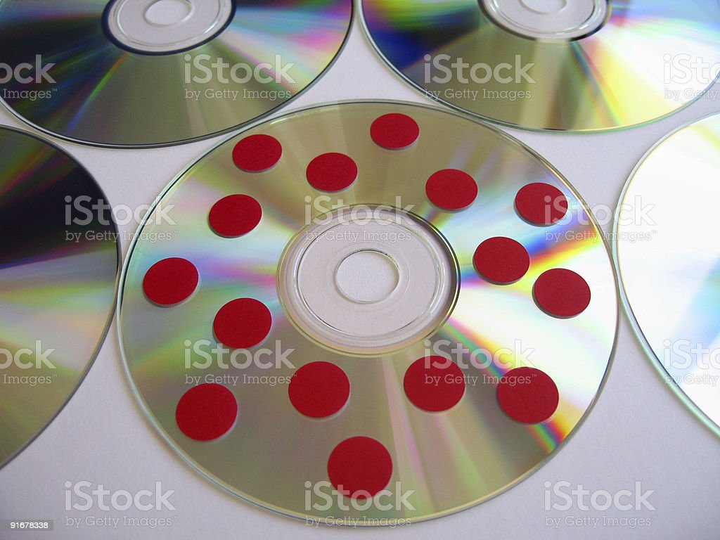 Infected Disc 4 royalty-free stock photo