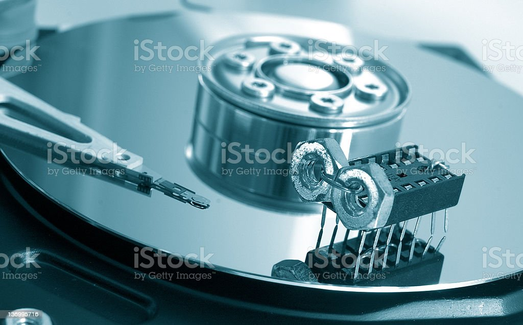 Infected disk stock photo