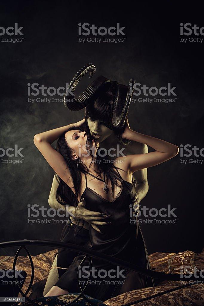 Infernal romance stock photo