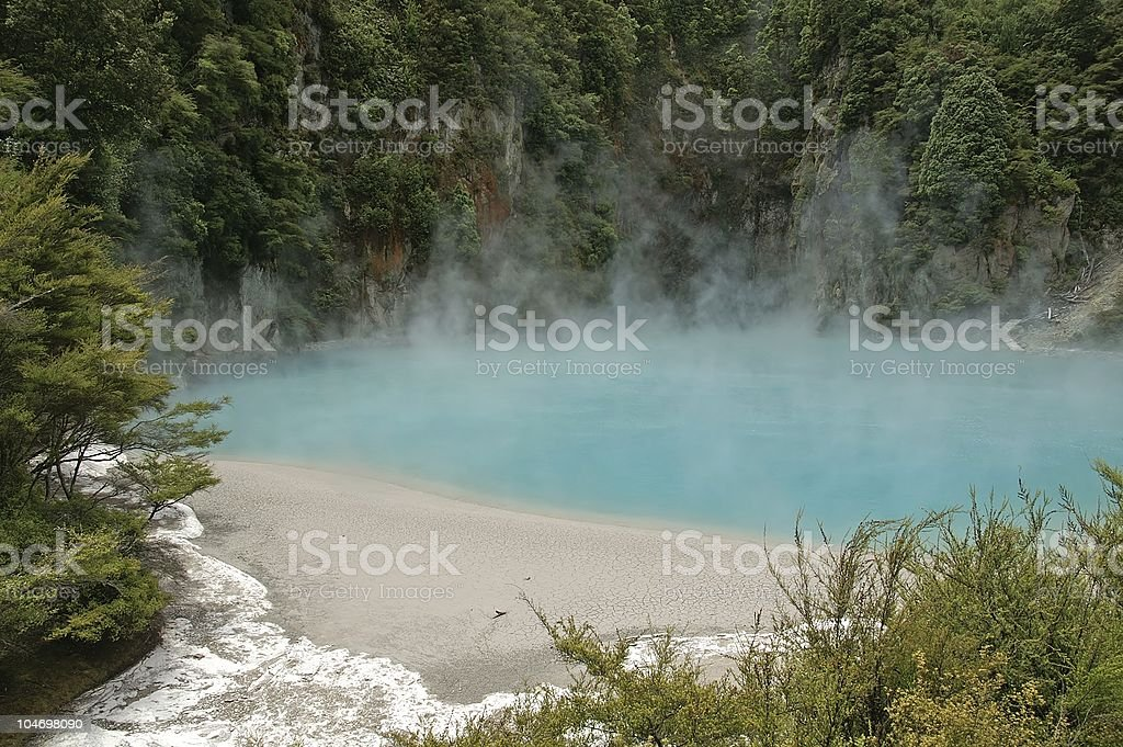 Inferno Crater, Waimangu Volcanic Valley royalty-free stock photo