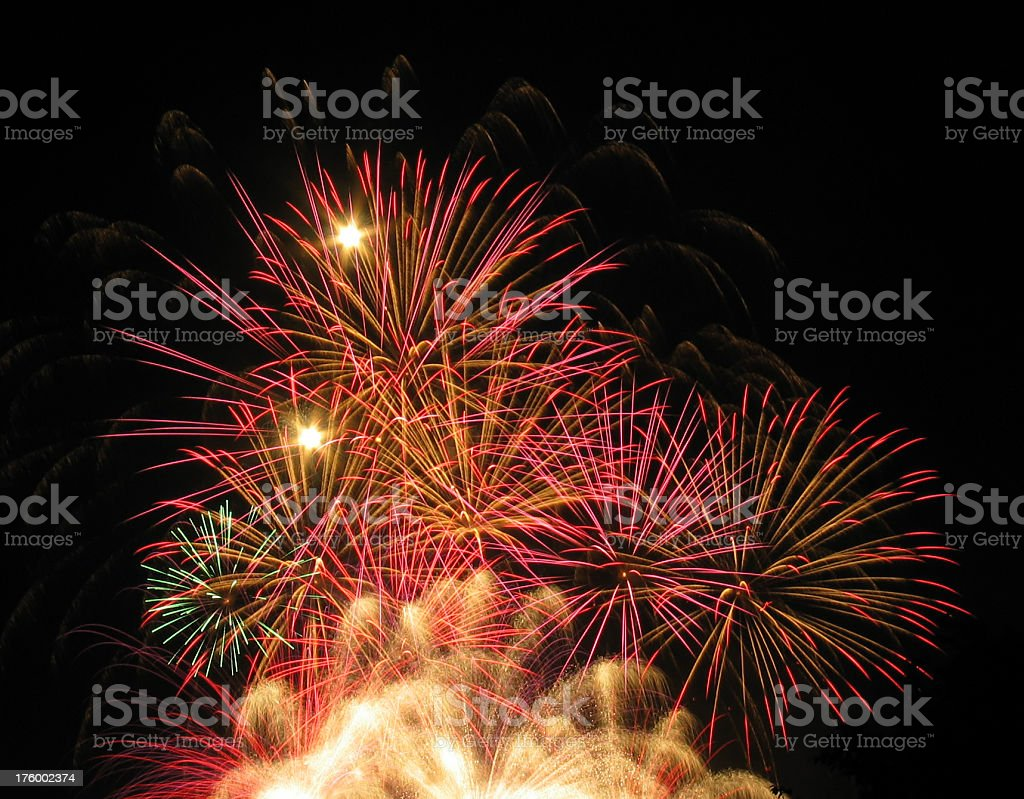 Inferno of explosions royalty-free stock photo
