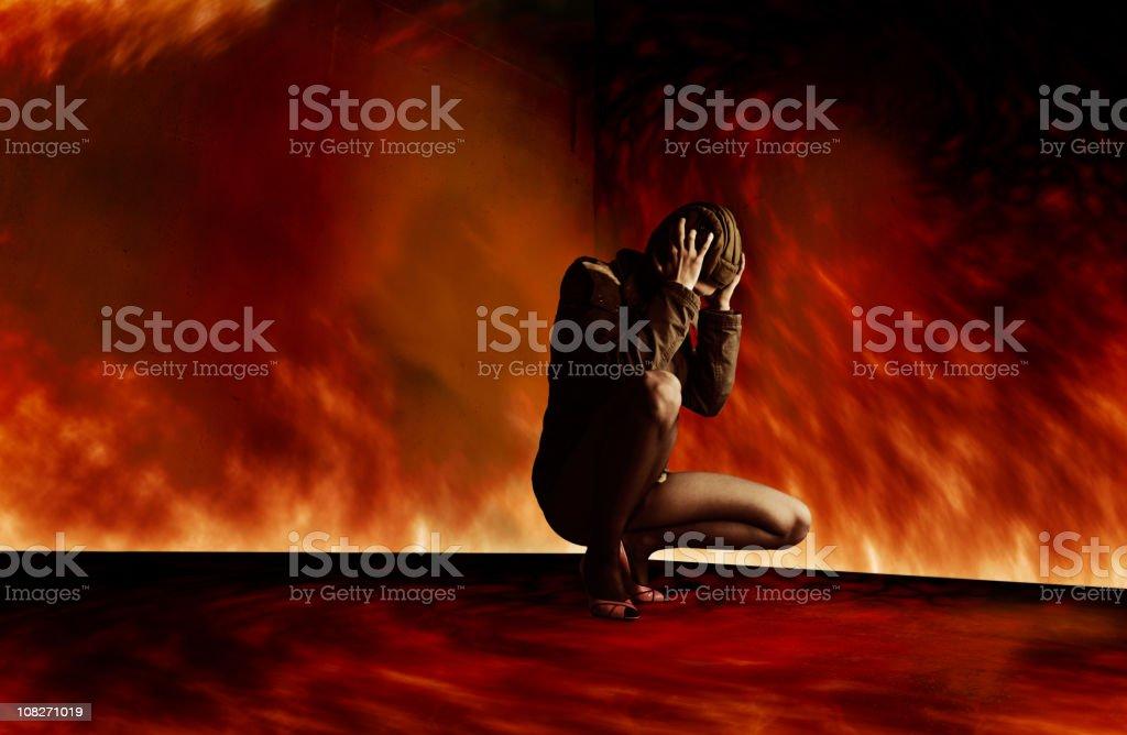 Inferno royalty-free stock photo