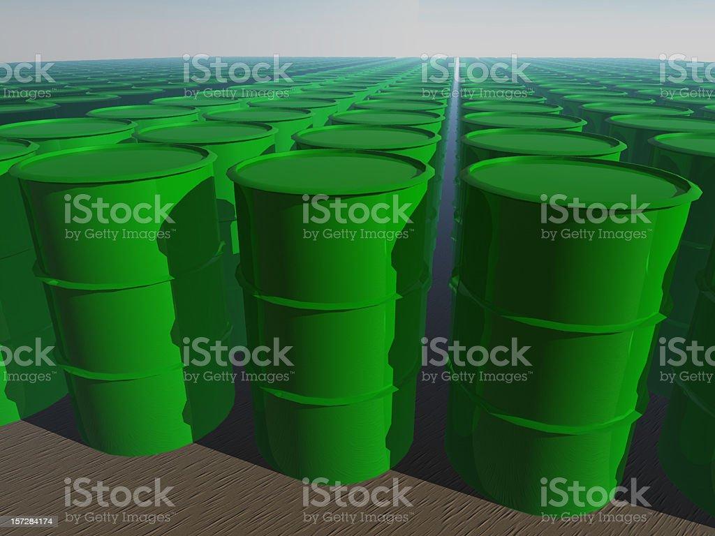 Infinite barrels royalty-free stock photo