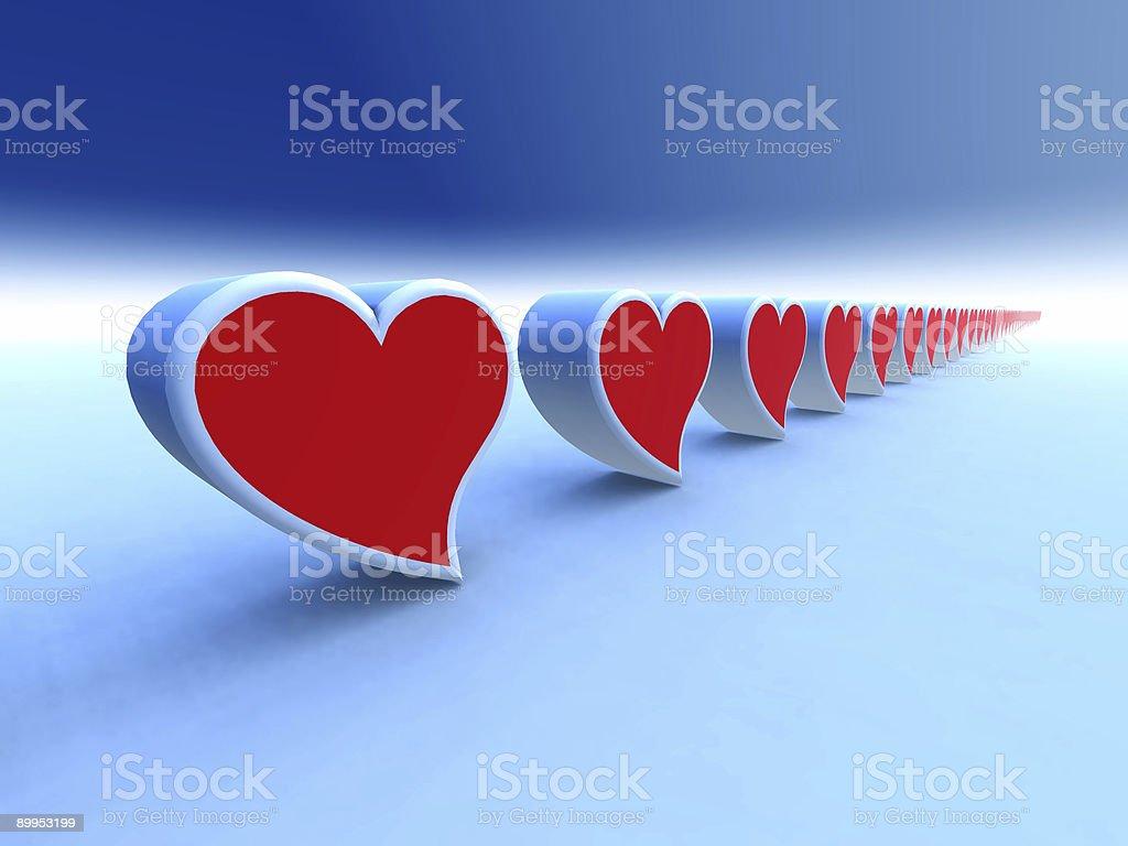 Infinite hearts royalty-free stock photo