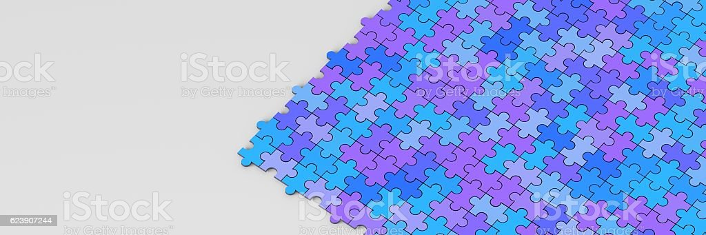 Infinite puzzle teamwork background vector art illustration