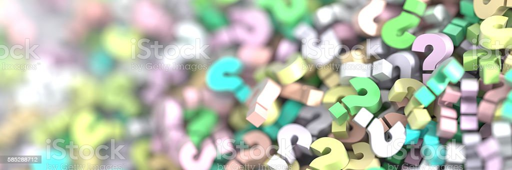 Infinite question marks stock photo
