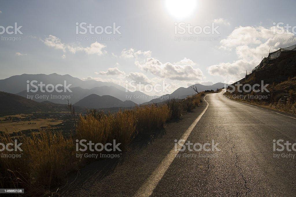 Infinite road royalty-free stock photo