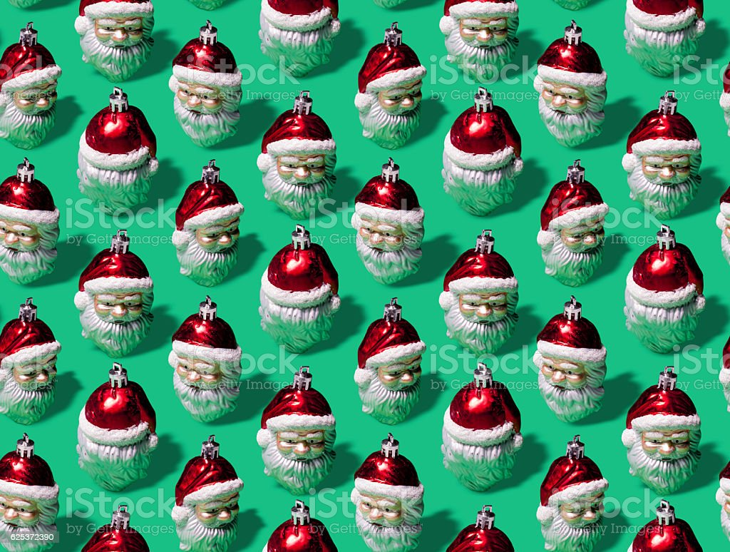 Infinite Santas Wrapping Paper stock photo