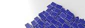 Infinite solar panels background