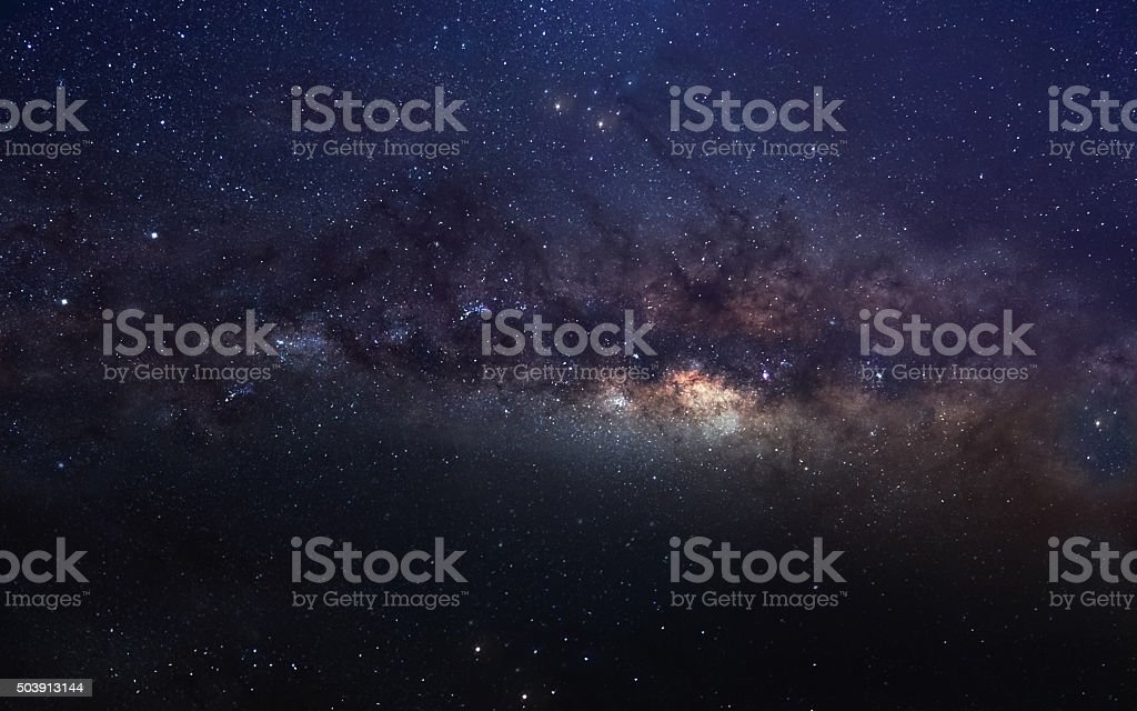 Infinite space background with milky way. This image elements furnished stock photo