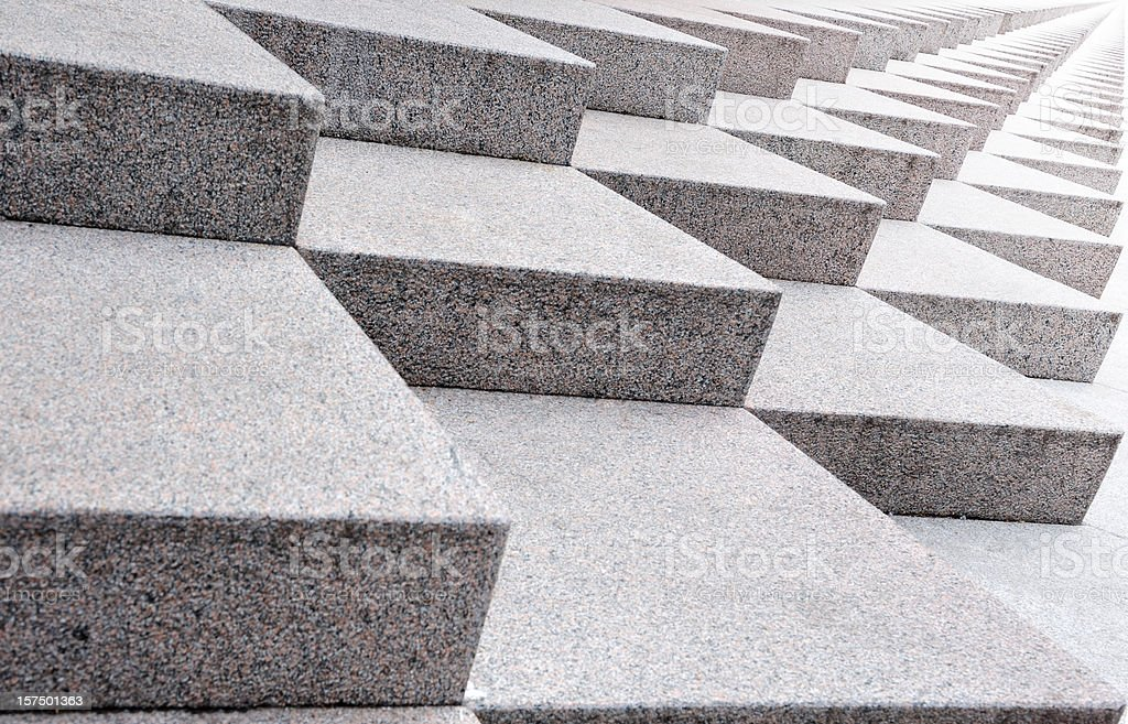 Infinite stairway, sideways into bright light stock photo