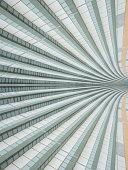 Infinite stairway, sideways into infinity, mirrored