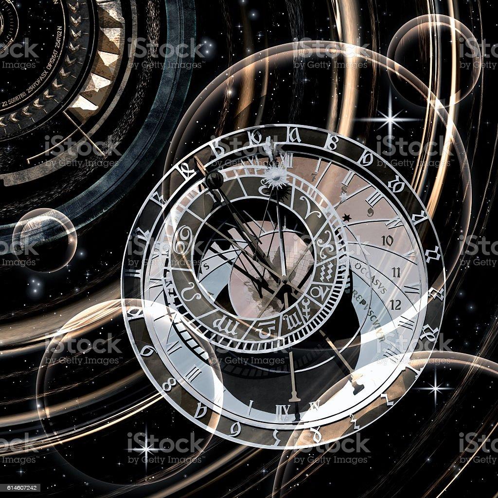Infinite time, 3D illustration stock photo