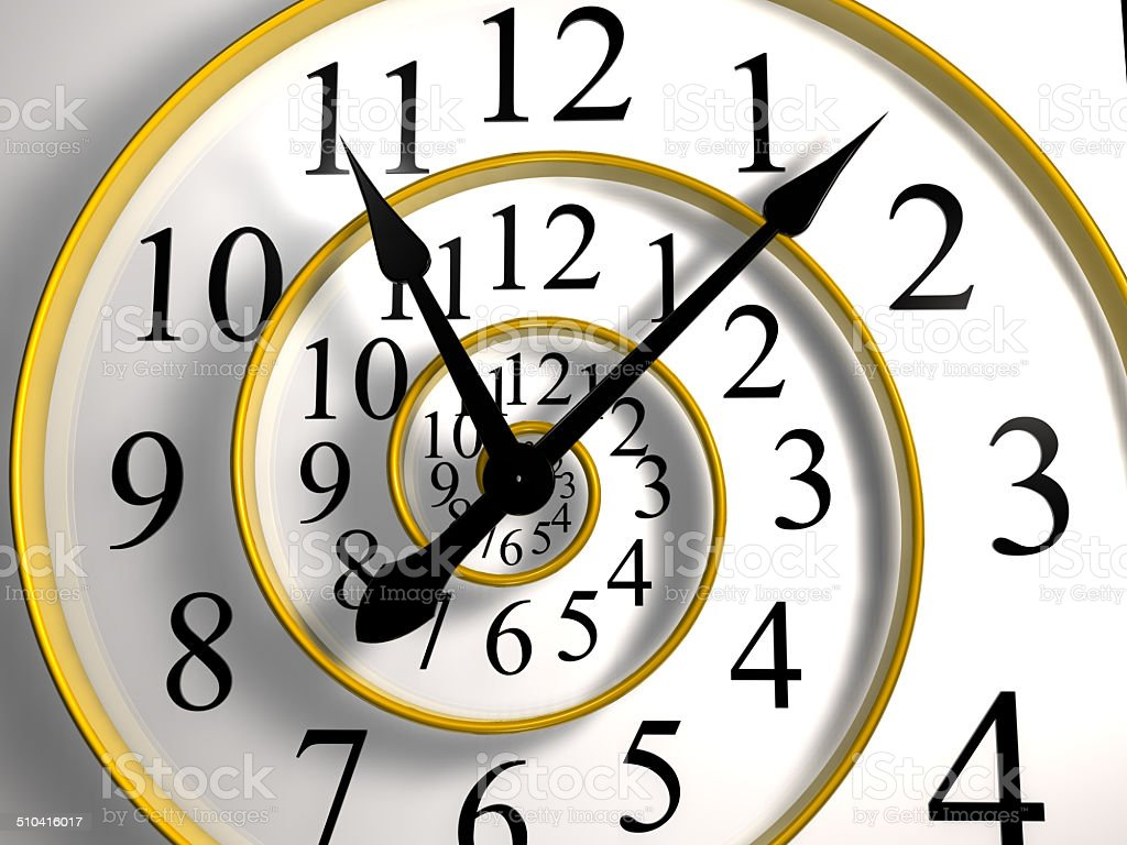 infinite time clock stock photo