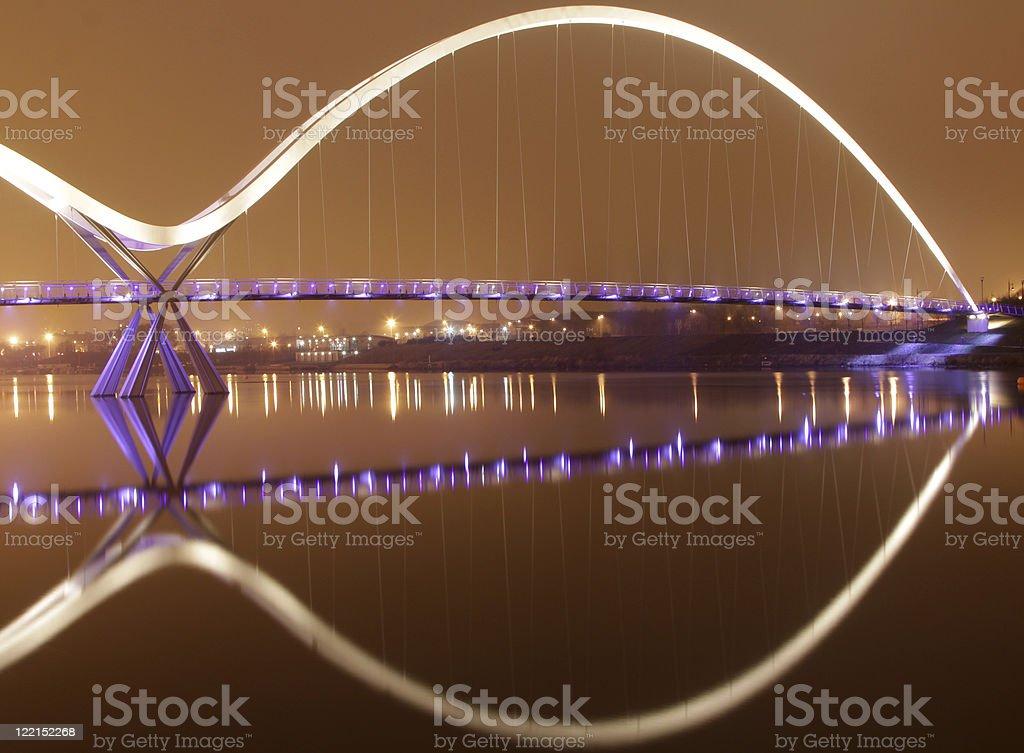 infinity bridge,cleveland,england stock photo