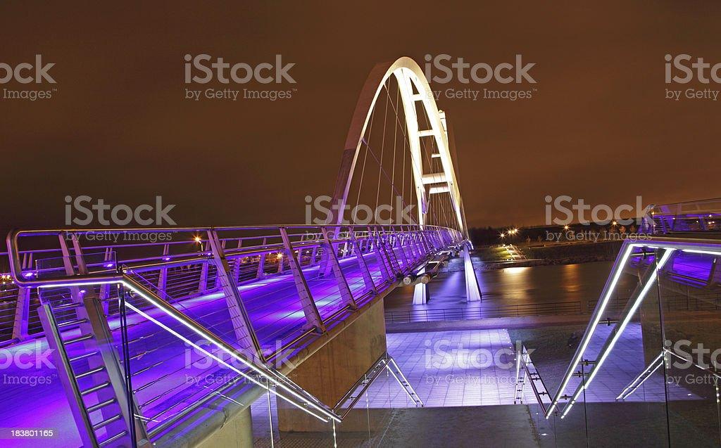 Infinity Bridge,Cleveland,England royalty-free stock photo