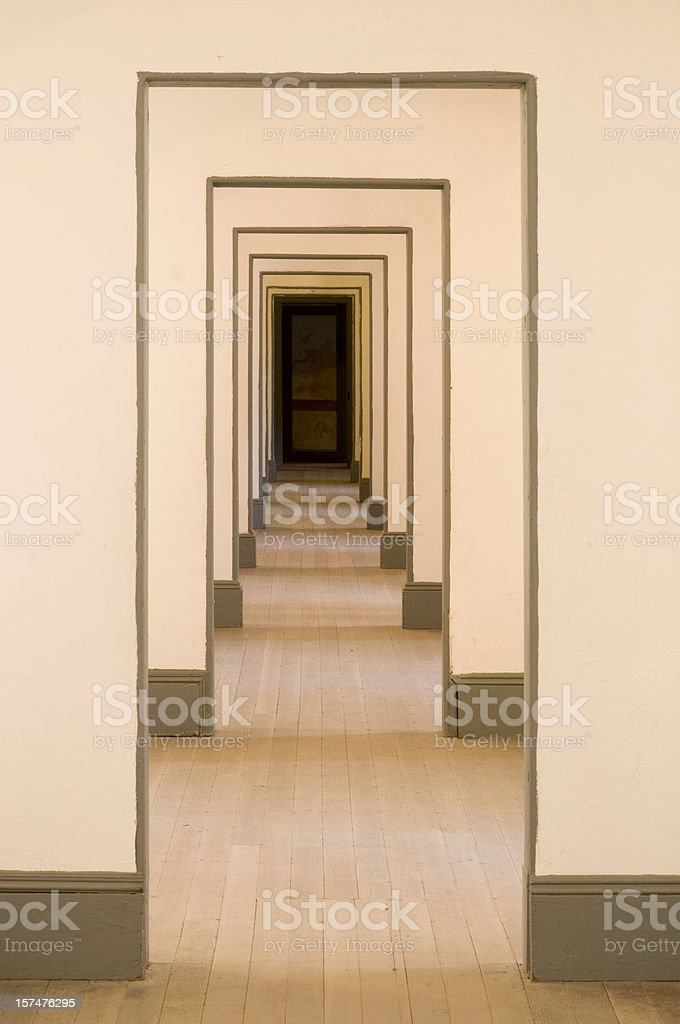 Infinity doorways stock photo