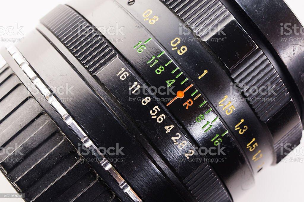 infinity focus lens macro stock photo