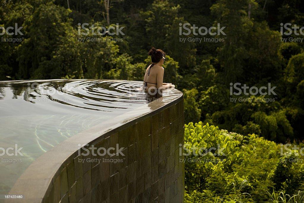 Infinity Pool Lookout in Ubud Bali stock photo