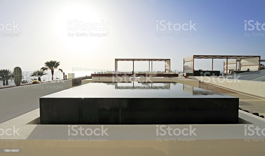 Infinity pool, Tenerife stock photo