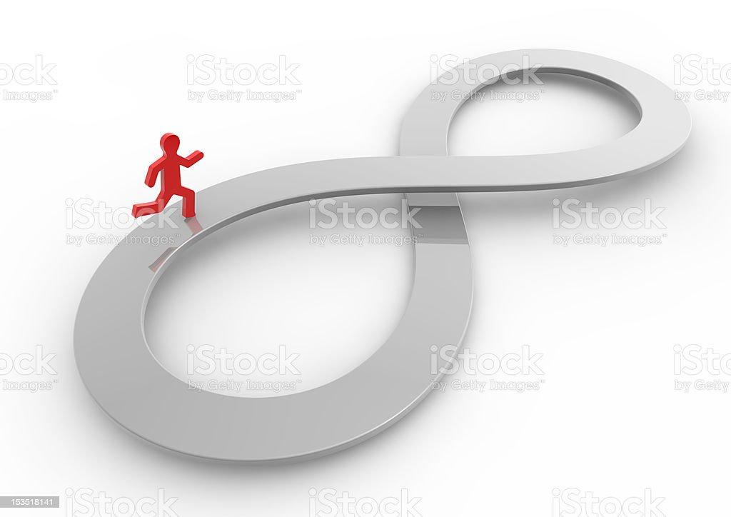 Infinity running royalty-free stock photo