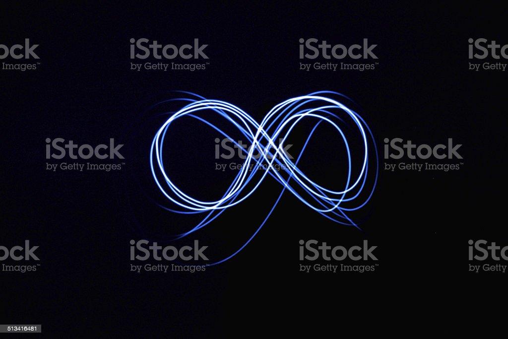 Infinity sign stock photo