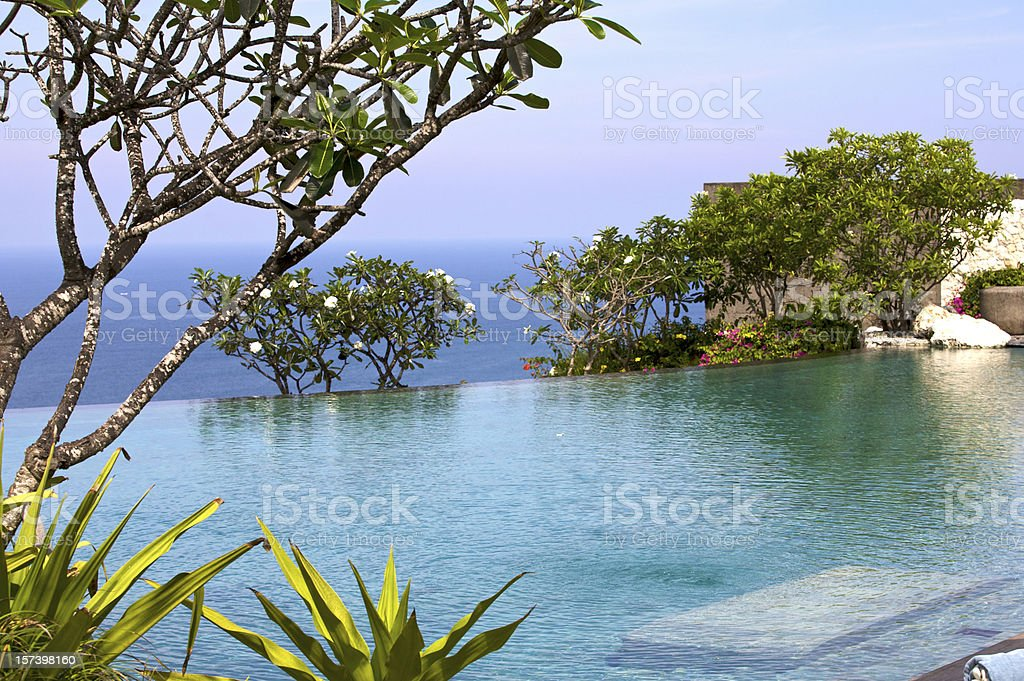 Infinity-Pool at a Resort in Bali stock photo
