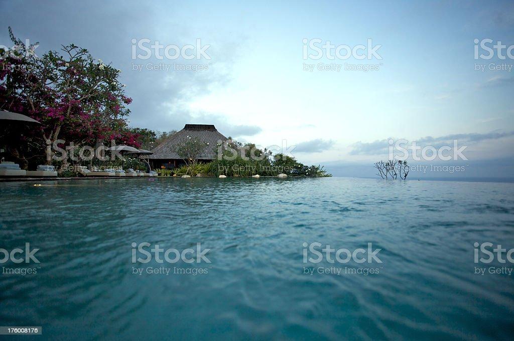 Infinity-Pool at a Resort on Bali stock photo