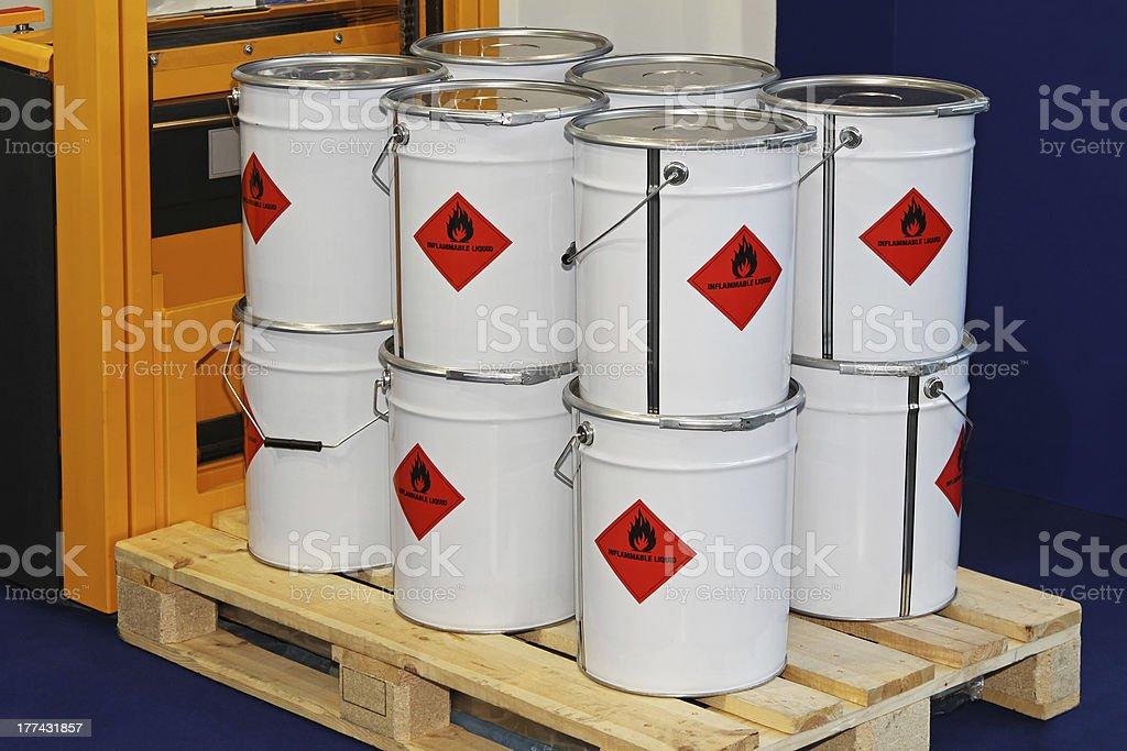 Inflammable liquid stock photo