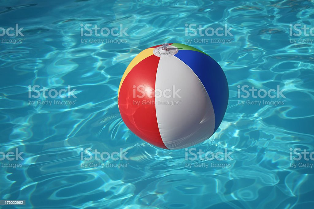 Inflatable Ball in Swimming Pool royalty-free stock photo