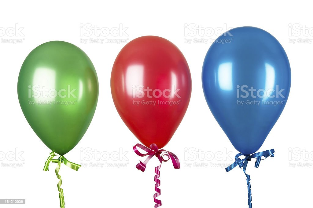 Inflatable balloons isolated on white background royalty-free stock photo