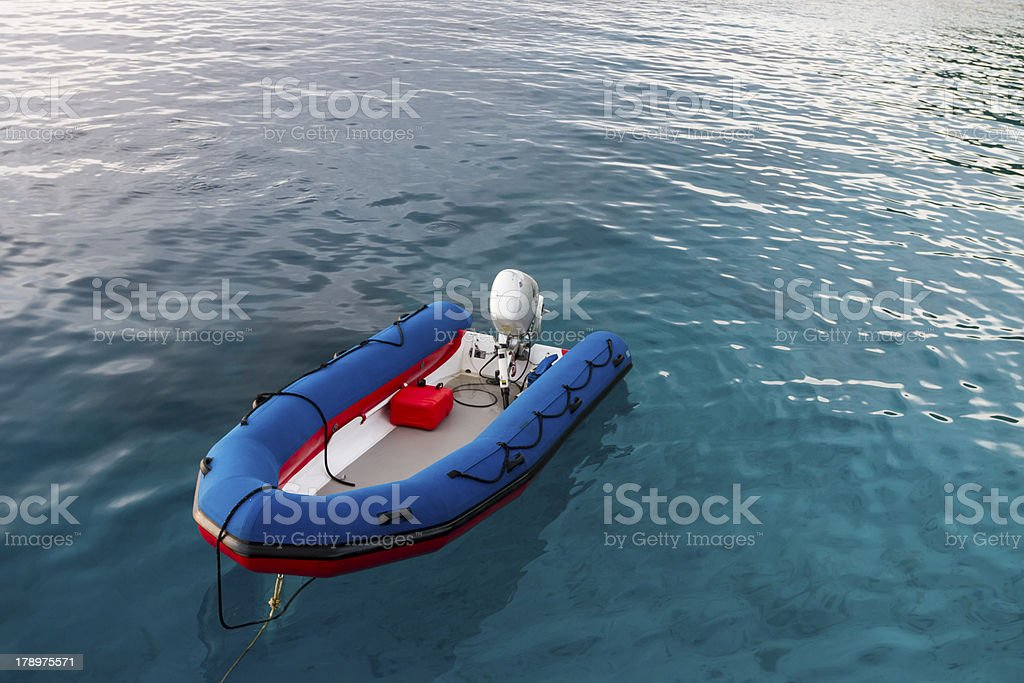 Inflatable boat at Similan island royalty-free stock photo