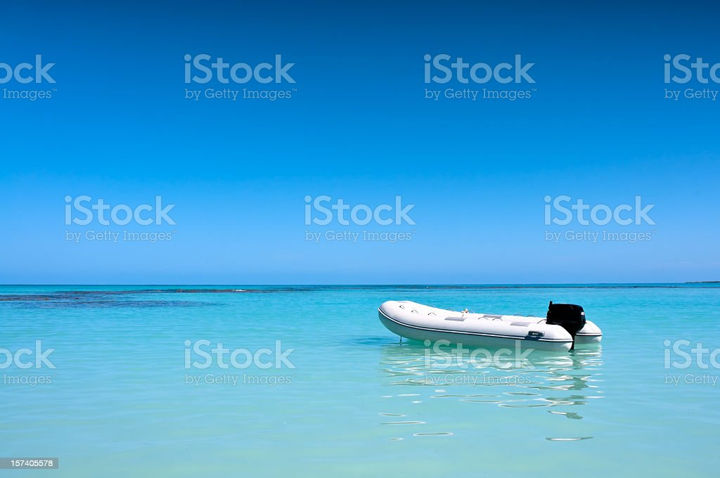 Inflatable Boat royalty-free stock photo