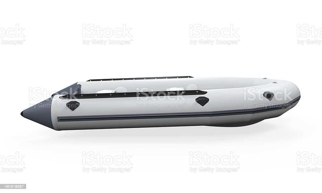Inflatable Boat stock photo