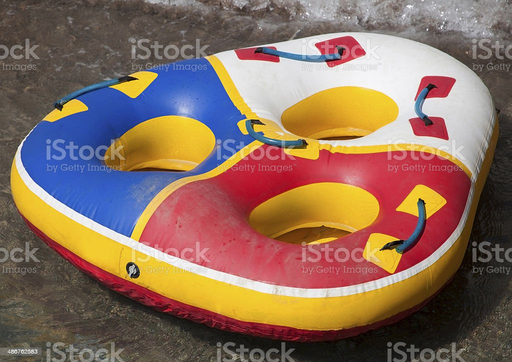 Inflatable boat. royalty-free stock photo