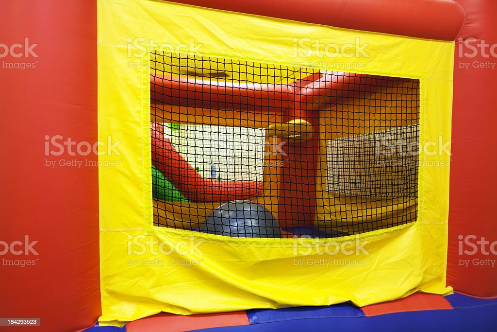 Inflatable Bouncing Playground royalty-free stock photo
