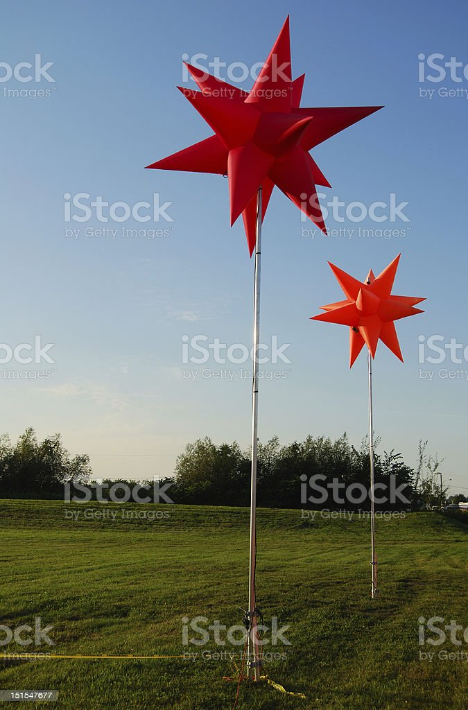 Inflatable decorations royalty-free stock photo